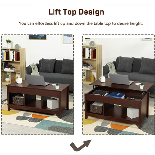 Coffee Table w/ Hidden Storage Compartment  5