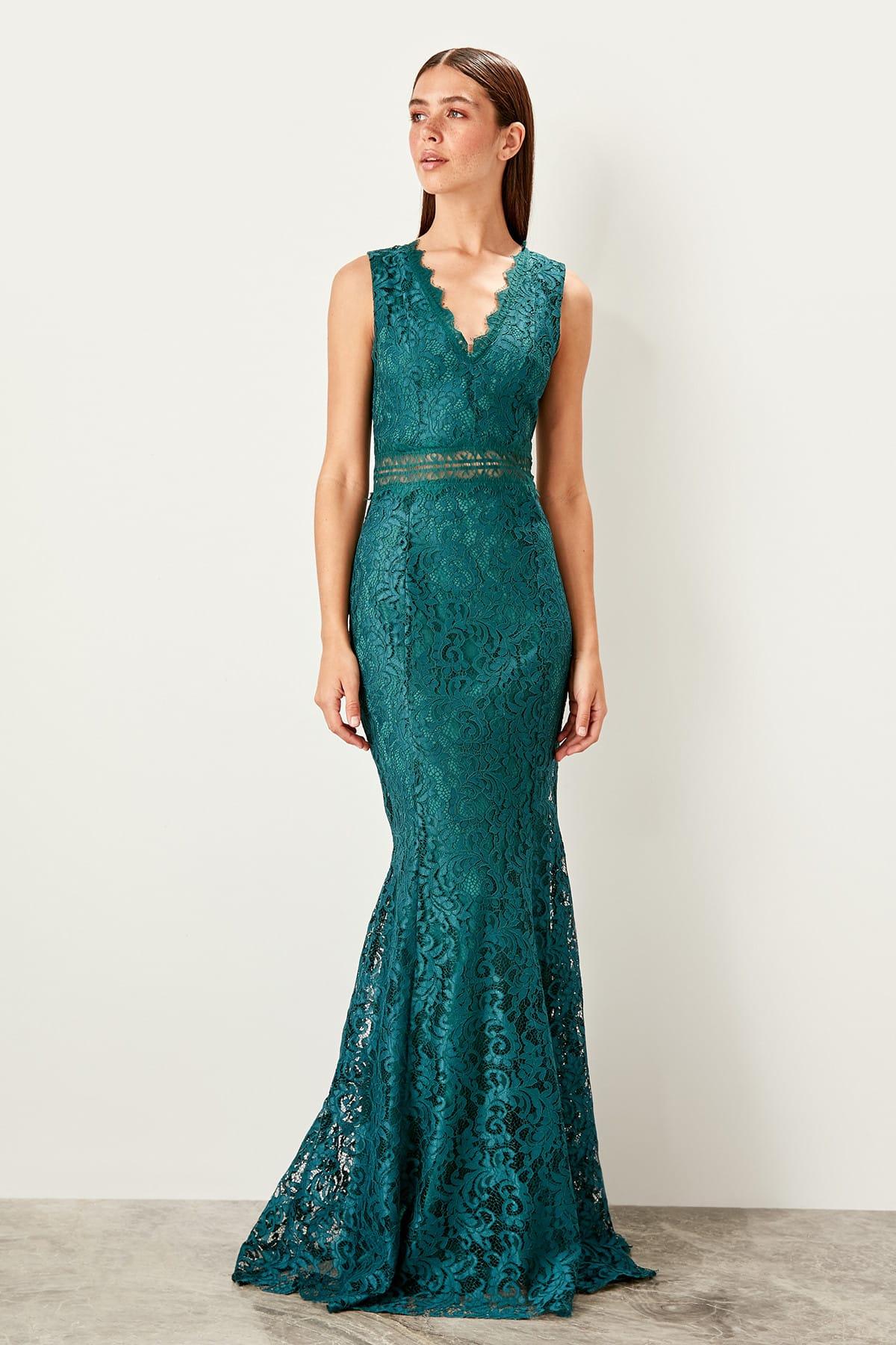 Trendyol Collar Detail Evening Dress Dress TPRSS19FZ0219