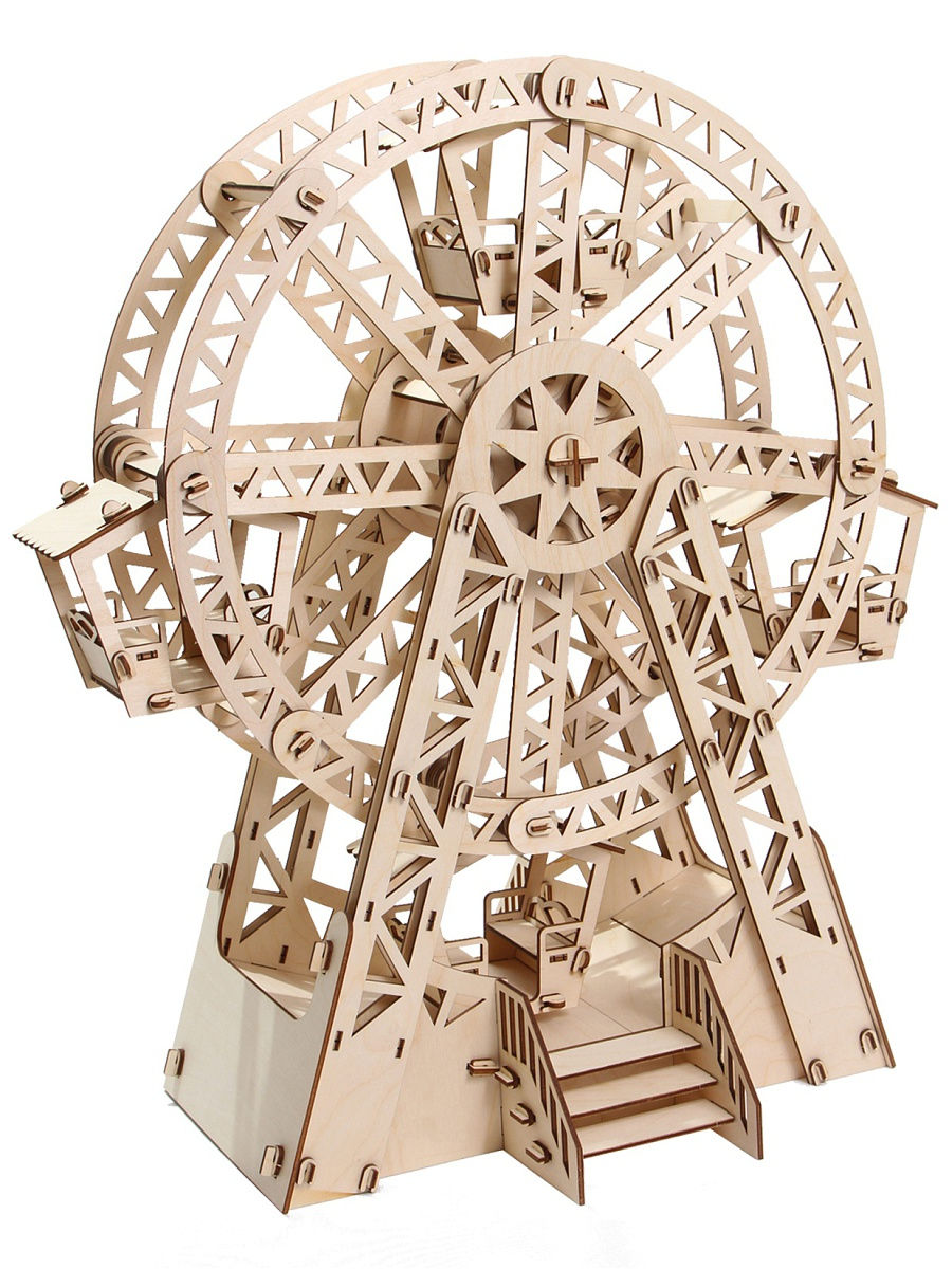 Plywood Constructor Ferris Wheel For Children Wooden Kit Educational Toys Diy