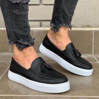 Knack 717 czarny wysokiej jakości 100 sztuczna skóra mężczyzna przypadkowi buty Buty buty do butów buty Van buty do butów powietrznych buty do koszykówki buty do klapek buty do trenerów buty Chaussure buty do butów buty żelowy but młode męskie buty buty Chaussures tanie i dobre opinie TR (pochodzenie) Slip-on Pasuje prawda na wymiar weź swój normalny rozmiar Oksfordzie Lato Dla dorosłych Fabric