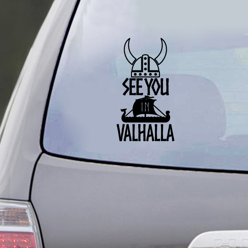 See You In Valhalla Car Decals